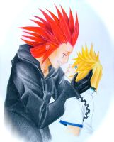 Axel and Roxas by HanaYubikiri