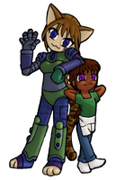 Hybrid And Camron By Genisay-colored by toranekohybrid