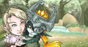 Link and Midna by Jacyll