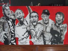 A Day To Remember painting of  A Day To Remember Band Members