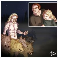 Werewolves, Carrot and Angua by yenefer