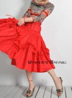 Red Jacquard 50s Full Skirt 7 by yystudio