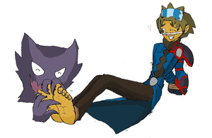 Commission: Wes and Haunter by Shadow-Aspect