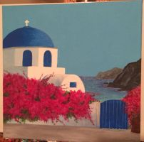 Greece painting by tastes-like-paint