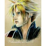 Cloud at the moment he sees Aerith and Zack by Nihonikitai