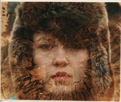 Double exposure portraits 1 by blueblueelectricblue