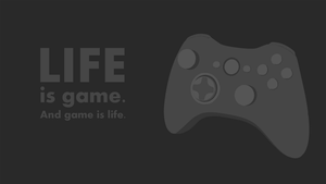 Life is game wallpaper by nullf