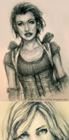 Resident Evil Alice - Sketches by Sadako-xD