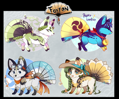 Spotted Foxfans // AUCTION // CLOSED by Belliko-art