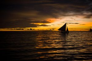 Sunset Sailing by alvse