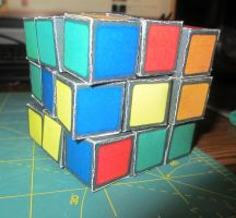 3x3 Paper Rubik's Cube [Build 1.0] by galaxy5111