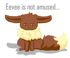 eevee is not amused by Freckled-Kat
