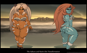 The Sakura and Karin Oni Transformation IV by Chronorin