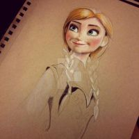 Started working on Anna by aaronbakerart