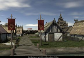 Free Stock Background:  Viking Village by ArtReferenceSource