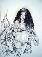 Cave Girl By DW Miller by ConceptsByMiller