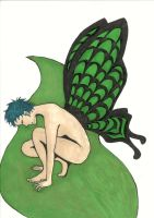 Green Butterfly by issabissabel