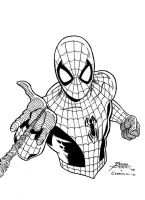 Inks over George Perez's Spider-Man by VikThor