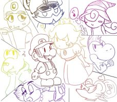 Paper Mario Crew by PowHammer