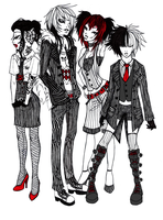 party of four by XxBlind-CreationxX