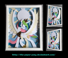 Commission: Stained Glass Celestia by The-Paper-Pony