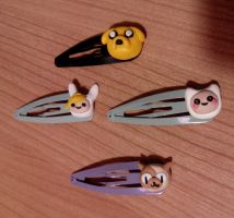 Hair Clips Adventure Time Jake Cake Finn Fionna by Naiemh