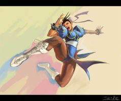 Chun-Li Fanart sketch paint by Zureul