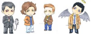 Supernatural chibis by Vicdin