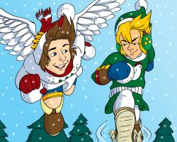 Winter Pit and Link by Jaymzeecat