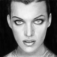 Milla Jovovich by MLS-art
