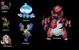 Pokemon Black Team 7.27.2011 by SpiderMatt512