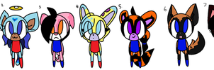 Free adoptables :PA: by Minxy-Mew-Mew