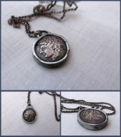 Sicilian Ancient Coin Necklace by xofox