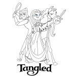 Tangled Movie Poster - Lineart by DuctPrincess