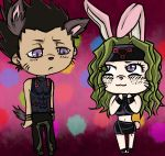 FemEnvy and Greed chibi by Envy-the-parasite