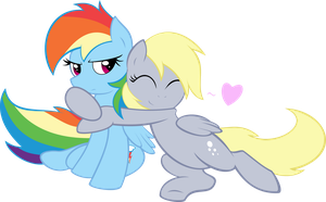 Rainbow Dash And Derpy by IAmADinosaurRARRR