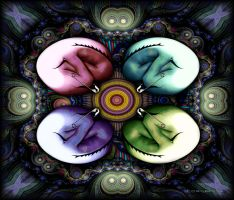 Mandala of the egg by ivankorsario