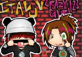 Me 'n Beffy -graffiti style- by ItaLuv
