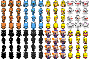 RPG Maker - FNAF2 Characters by willer111