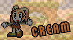 Cream Pixel Wallpaper by 3Bros1Mission