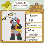 PKMN Crossing Application: Baron by SpiffyShoes