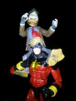 Captain Marvel and Howard The Duck Custom Figures by ayelid
