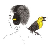 Self-Portrait with Yellow-Headed Blackbird by Allison-beriyani