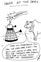 Dalek at the Dairy by HazelNutsandCream