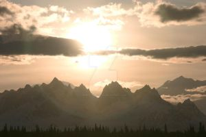Mountain and Sun Dog, Denali N.P by iamintheprocess
