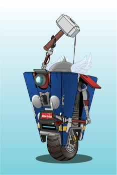 Claptrap Thor by fireforgegrafx