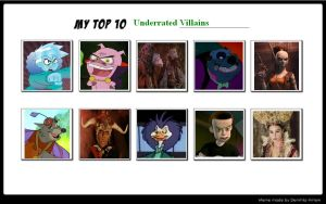 My Top 10 Underrated Villains 02 by SithVampireMaster27