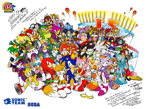 Sonic 15th Anniversary by darkspeeds