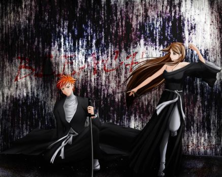 Ichigo and Orihime by fadingz