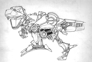 Mecha T.REX by Wittermark